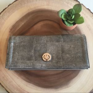 Mundi Clutch Wallet - Gray Snakeskin Pattern